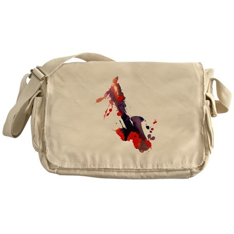 Paint Splat Saxophone Messenger Bag