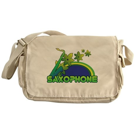 Retro Saxophone Messenger Bag