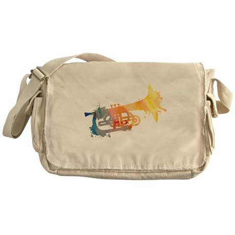 Paint Splat Mellophone Messenger Bag