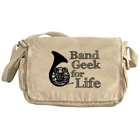 French Horn Band Geek Messenger Bag