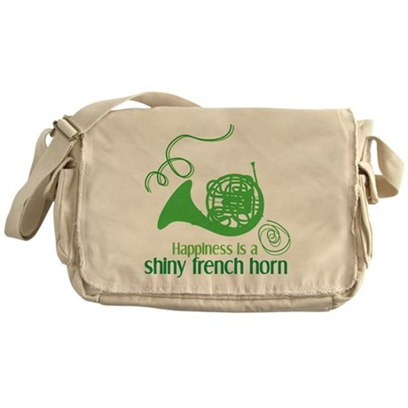 Shiny French Horn Messenger Bag