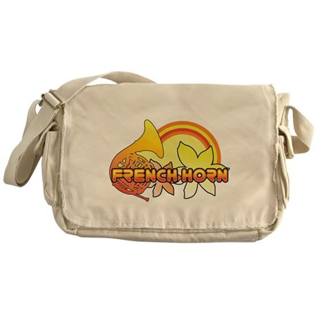 Retro French Horn Messenger Bag