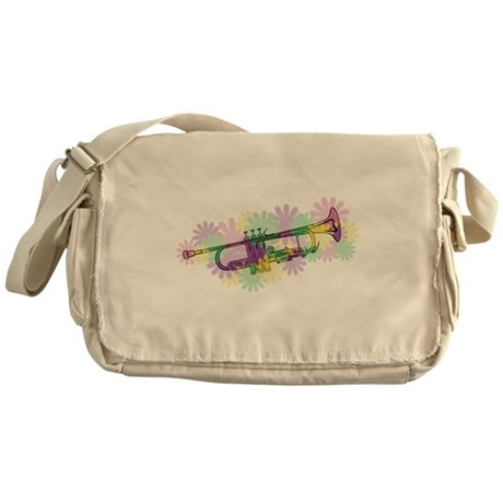 Flower Power Trumpet Messenger Bag