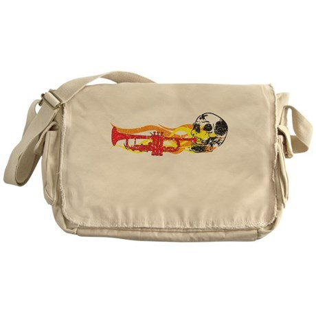Skull Trumpet Messenger Bag