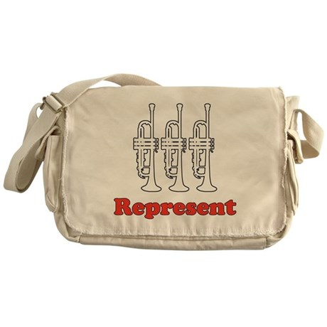 Trumpet &quot;Represent&quot; Messenger Bag