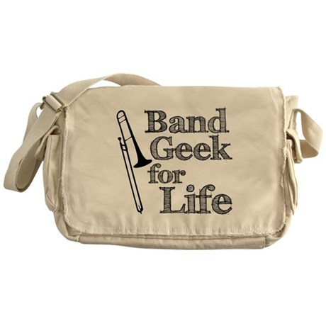 Trombone Band Geek Messenger Bag