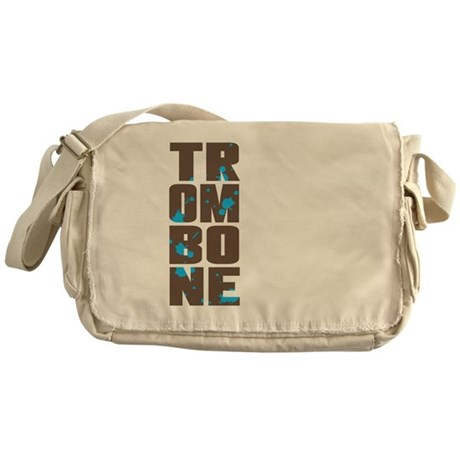 Asymmetrical Trombone Messenger Bag