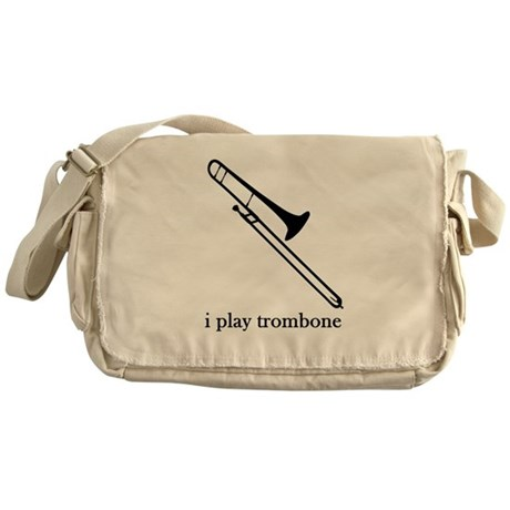 I Play Trombone Messenger Bag