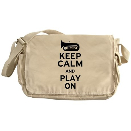 Keep Calm Tuba Messenger Bag