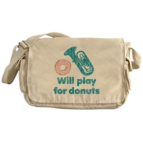 Will Play Tuba for Donuts Messenger Bag