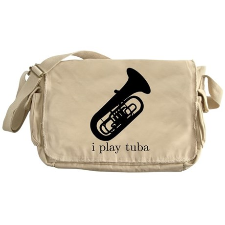 I Play Tuba Messenger Bag