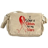 Hero Ribbon Oral Cancer Messenger Bag