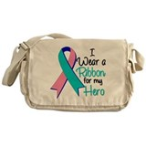 Hero Ribbon Thyroid Cancer Messenger Bag