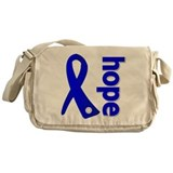 Hope Ribbon Colon Cancer Messenger Bag