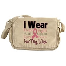 Wife - Breast Cancer Messenger Bag
