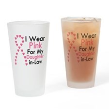 I Wear Pink Drinking Glass