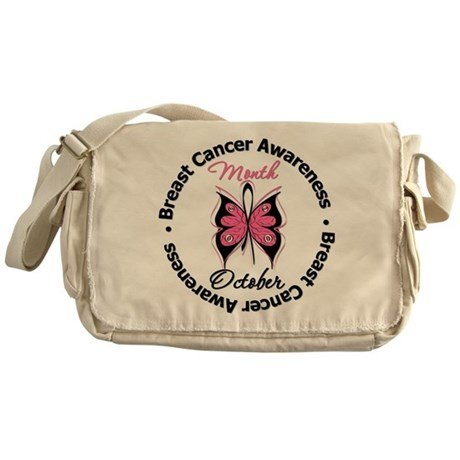 Butterfly Breast Cancer Messenger Bag