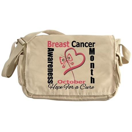 Breast Cancer Month Heart But Messenger Bag