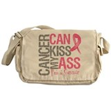 Breast Cancer Can Kiss My Ass Messenger Bag