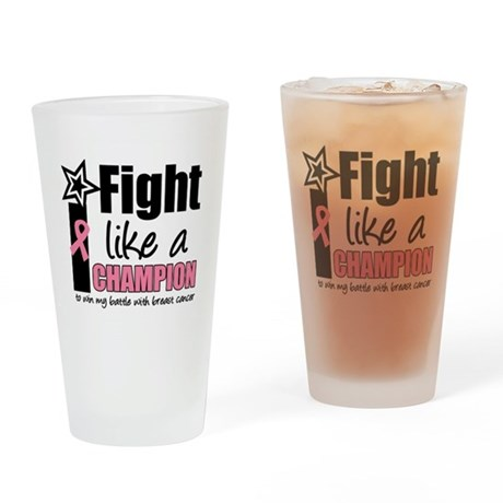 I Fight Like a Champion Drinking Glass