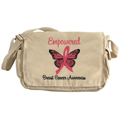 Believe Breast Cancer Butterf Messenger Bag