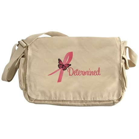 Breast Cancer Determined Messenger Bag
