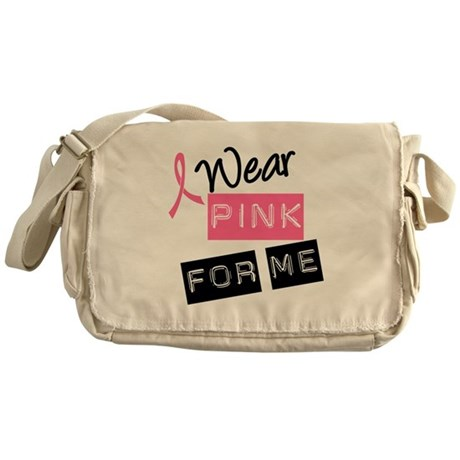 I Wear Pink Messenger Bag