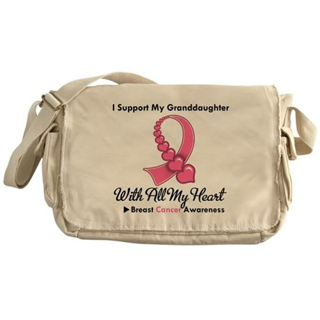 Breast Cancer Support Wife Messenger Bag