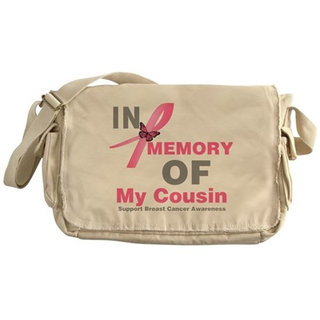BreastCancerMemoryCousin Messenger Bag
