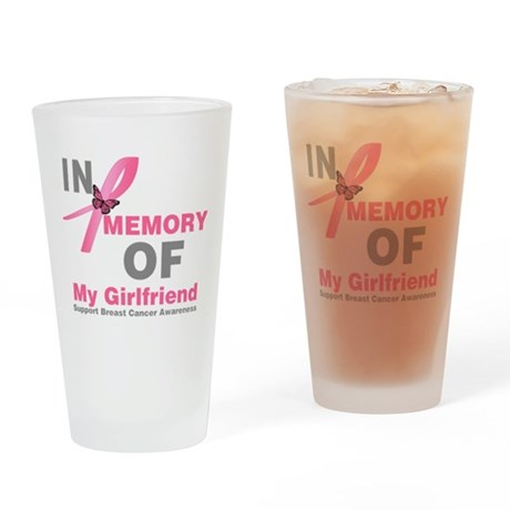 BreastCancerMemoryWife Drinking Glass