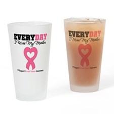Breast Cancer Miss Mother Drinking Glass