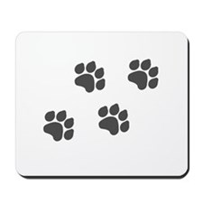 Black Paw Prints Mousepad