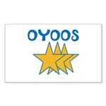 OYOOS Stars design Sticker (Rectangle 50 pk)