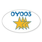 OYOOS Stars design Sticker (Oval 50 pk)