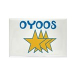 OYOOS Stars design Rectangle Magnet (10 pack)