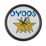 OYOOS Stars design Large Wall Clock