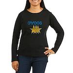 OYOOS Stars design Women's Long Sleeve Dark T-Shir