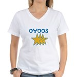 OYOOS Stars design Women's V-Neck T-Shirt