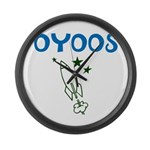 OYOOS Kids Rocket design Large Wall Clock
