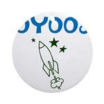 OYOOS Kids Rocket design Ornament (Round)