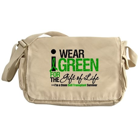 I Wear Green SCT Survivor Messenger Bag