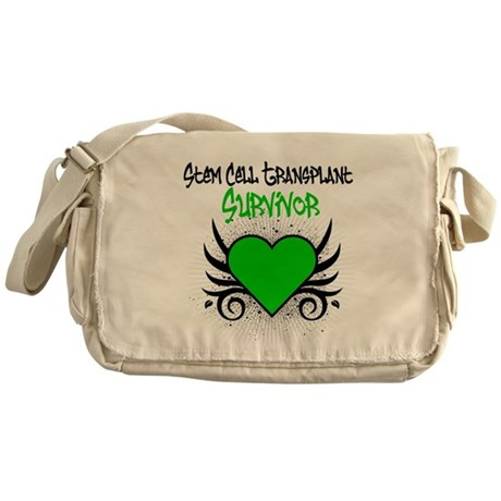 SCT Survivor Grunge Heart Messenger Bag