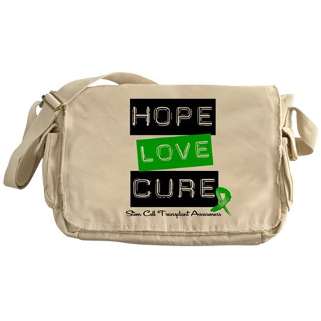 SCT Survivor Heart Ribbon Messenger Bag