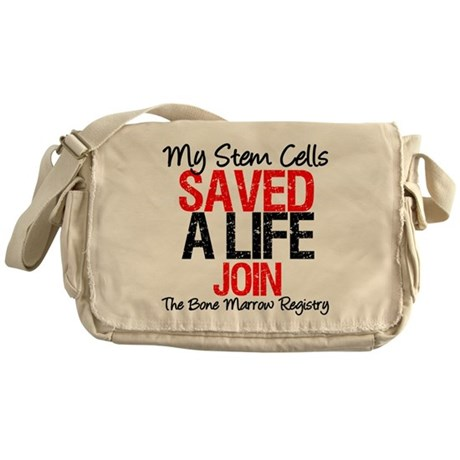 My Stem Cells Saved a Life (G Messenger Bag