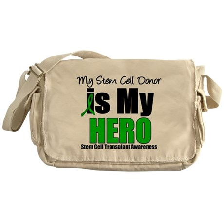 My Stem Cell Donor is My Hero Messenger Bag