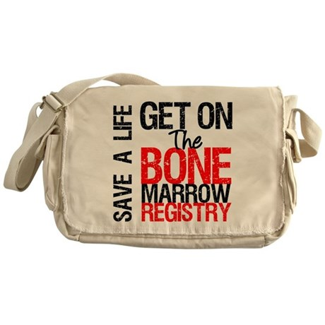 GetOnThe Bone Marrow Registry Messenger Bag