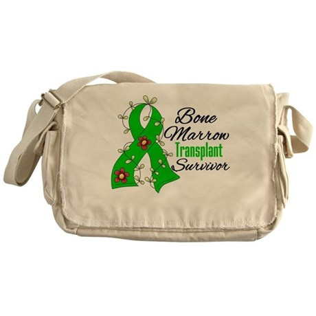 BMT Survivor Flower Ribbon Messenger Bag