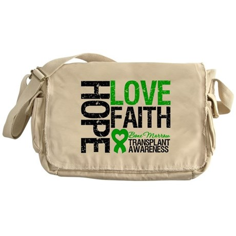BMT Hope Love Faith Messenger Bag