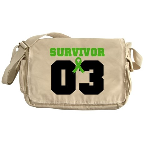 Lymphoma Survivor 3 Years Messenger Bag