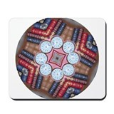 Bookshelf Clock Mandala Mousepad